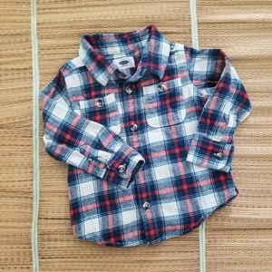 Old Navy Boy's Flannel Button Down Shirt